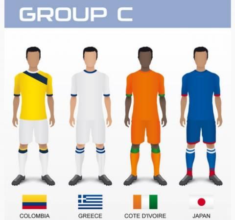 Μουντιάλ 2014: Τα ρόστερ των εθνικών ομάδων (3ος όμιλος)