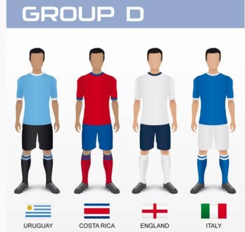 Μουντιάλ 2014: Τα ρόστερ των εθνικών ομάδων (4ος όμιλος)