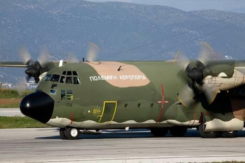 Αερομεταφορά νεογέννητου με C 130 από τη Σάμο στην Αθήνα