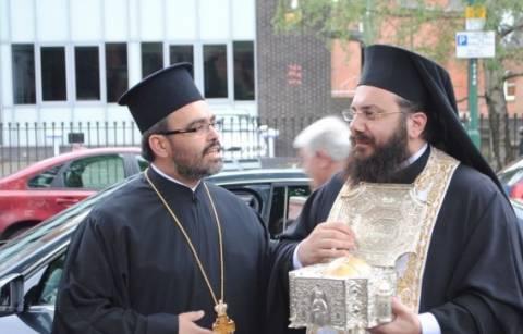 Υποδοχή Τιμίας Κάρας στην Παναγία Ελεούσα Νόττινχαμ
