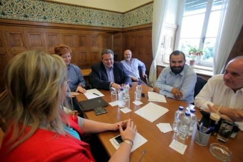 Συνεδριάζει η Κοινοβουλευτική Ομάδα των Ανεξάρτητων Ελλήνων