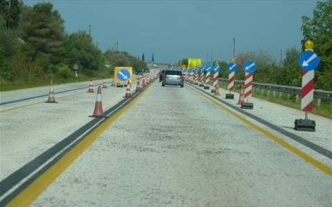 Διακοπή κυκλοφορίας στην Νέα Εθνική Οδό Κορίνθου-Πατρών