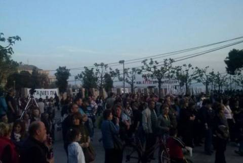Συλλαλητήριο κατά των απολύσεων στη Θεσσαλονίκη
