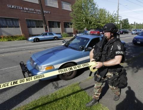 ΗΠΑ: Ένοπλη επίθεση με ένα νεκρό στο πανεπιστήμιο του Σιάτλ (pics)