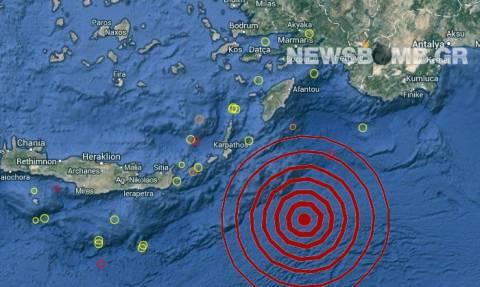 Σεισμός 5,3 Ρίχτερ νοτιοανατολικά της Καρπάθου