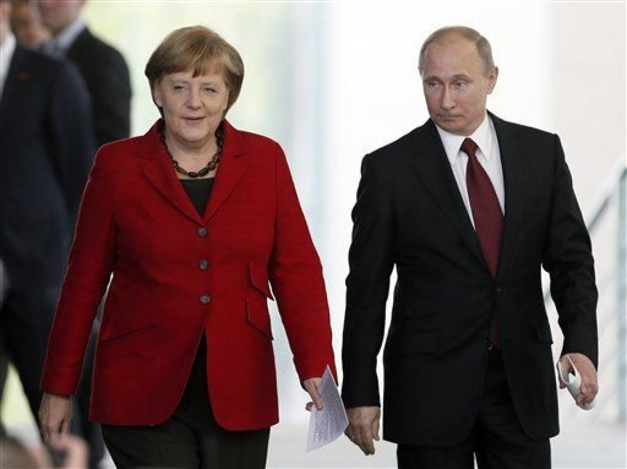 Πούτιν - Μέρκελ τα είπαν τηλεφωνικά για το φυσικό αέριο