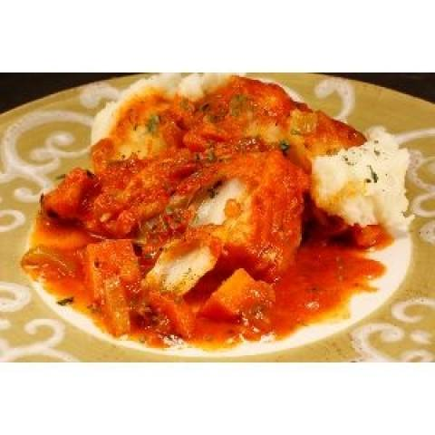 Συνταγή για μπακαλιάρο με ντομάτα, θυμάρι και ρίγανη