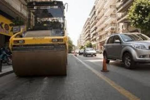 Θεσσαλονίκη: Εργασίες συντήρησης του ασφαλτοτάπητα στην Εγνατία την Κυριακή