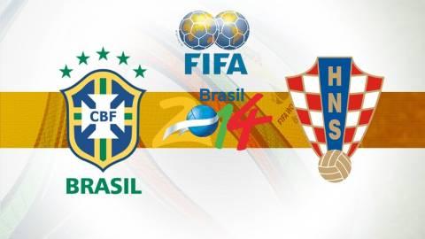 Μουντιάλ 2014: Δείτε τις ενδεκάδες του Βραζιλία-Κροατία (photo)