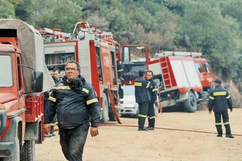 Θεσσαλονίκη: Φωτιά σε σκουπιδότοπο στο Ασβεστοχώρι