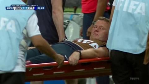 Παγκόσμιο κύπελλο 2014: Τραυματίστηκε ο φυσιοθεραπευτής της Αγγλίας!