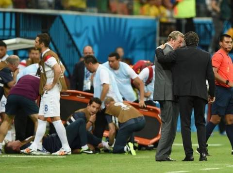 Mundial 2014: Τραυματίστηκε πανηγυρίζοντας το γκολ! (video)