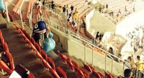Μουντιάλ 2014: Οι Ιάπωνες είδαν το παιχνίδι και μετά καθάρισαν! (pics)
