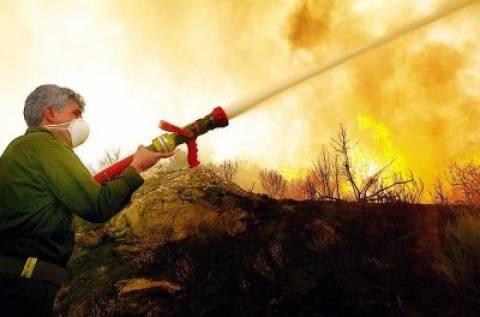 Σιθωνία: Κατακαίει για δεύτερη ημέρα η πυρκαγιά