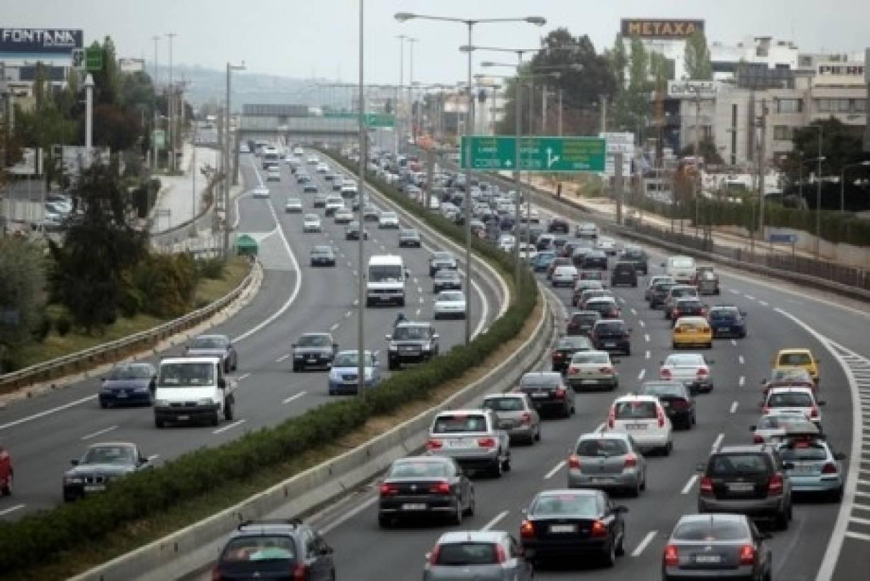 Ουρές οχημάτων και ταλαιπωρία οδηγών στη Λεωφόρο Κηφισού