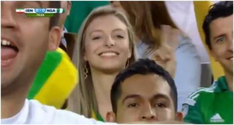 Παγκόσμιο Κύπελλο 2014: Ο οπερατέρ εντόπισε τον... ξανθό άγγελο! (βίντεο)