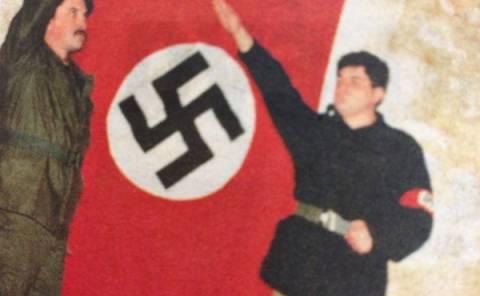 Μιχαλολιάκος και Παππάς χαιρετούν ναζιστικά με τη σβάστικα [pics]