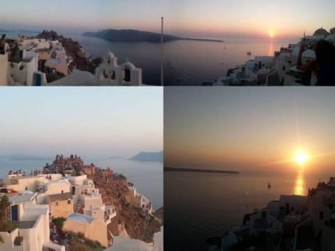 The dreamy sunset of Santorini!