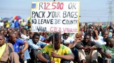 Νότιος Αφρική: Τερματισμός της απεργίας των μεταλλορύχων