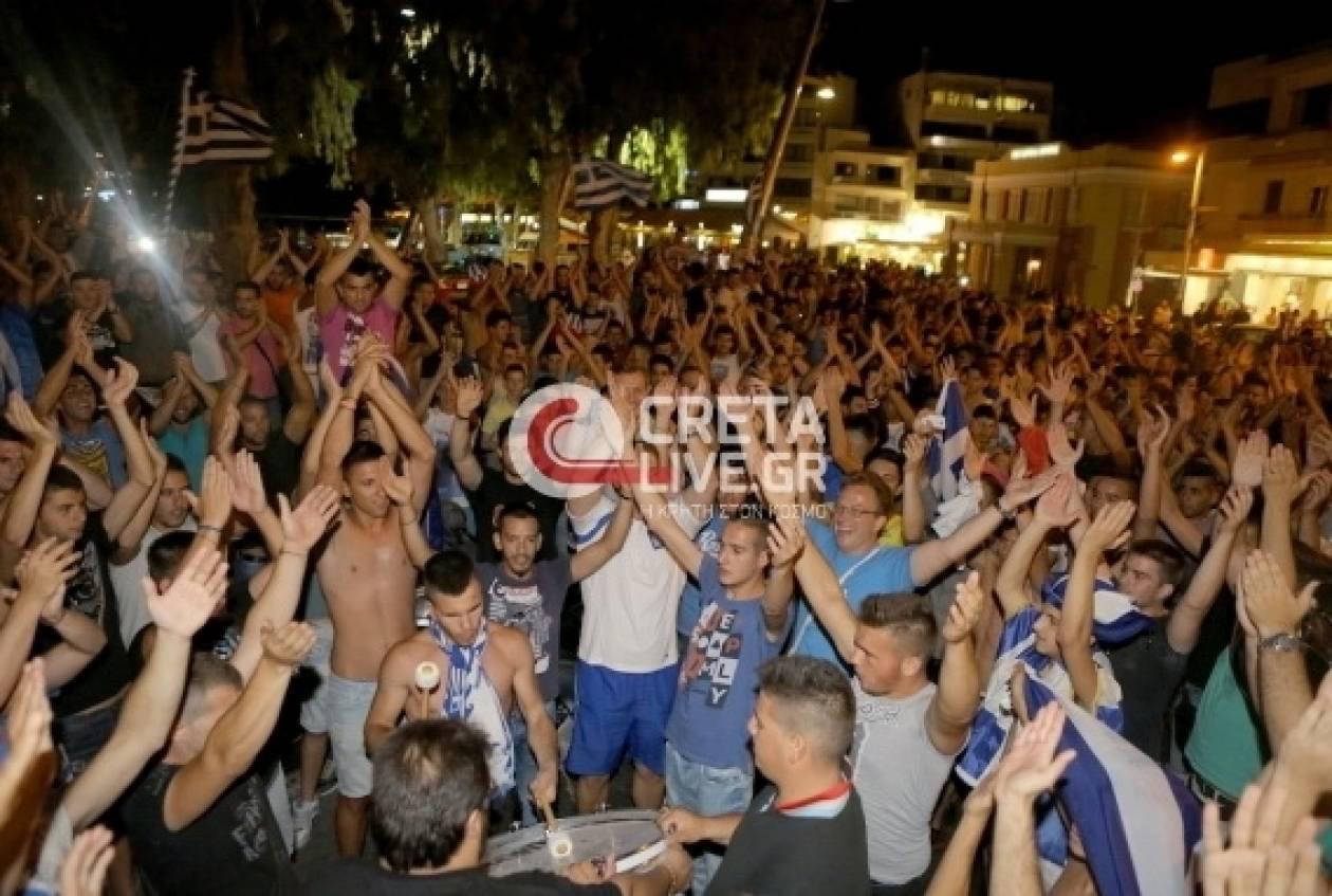 Μουντιάλ 2014: Πήραν τους… δρόμους οι κάτοικοι του Ηρακλείου!
