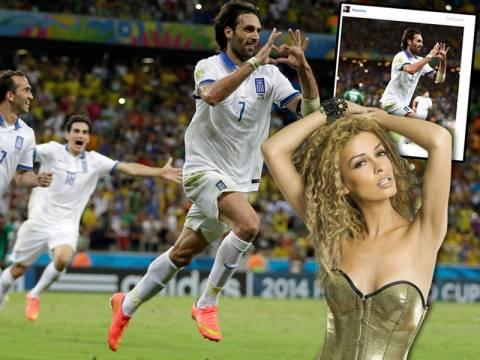 Δείτε πώς πανηγύρισε η Φουρέιρα το γκολ του Γιώργου Σαμαρά! (pics)