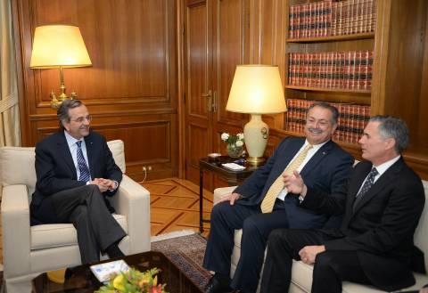 Συνάντηση Σαμαρά με εκπροσώπους της IBM και της Dow Chemical Company