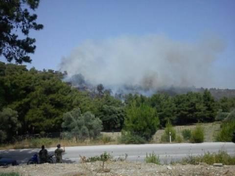 Τέθηκε υπό έλεγχο η φωτιά στην Ρόδο