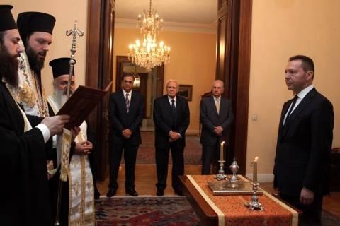 Ορκίστηκε ο Γ. Στουρνάρας ως διοικητής της Τράπεζας της Ελλάδας (pics)