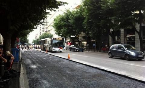Θεσσαλονίκη: Συνεχίζονται τα έργα ασφαλτόστρωσης στην Τσιμισκή