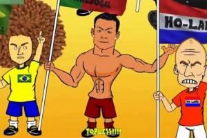 Mundial 2014: Η φάση των ομίλων σε καρτούν (video)