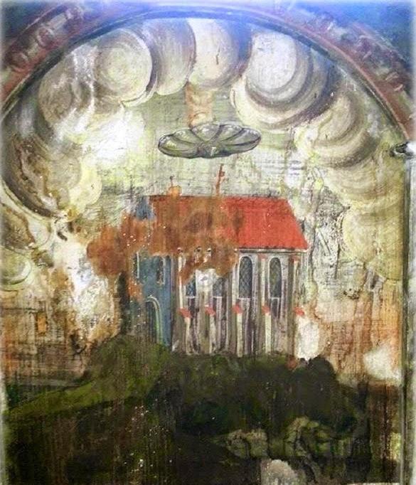 UFΟ απεικονίζεται σε τοιχογραφία του 14ου αιώνα; (pics)