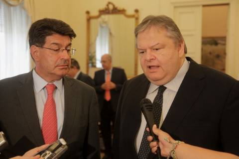 Συνάντηση του Ευ. Βενιζέλου με τον νέο πρόεδρο του ΣΕΒ, Θ. Φέσσα