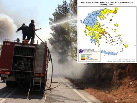 Σε συναγερμό η Πολιτική Ηγεσία για τον κίνδυνο εκδήλωσης πυρκαγιών