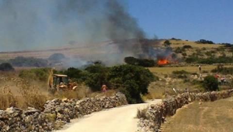 Υπό έλεγχο η φωτιά στη Σχοινούσα
