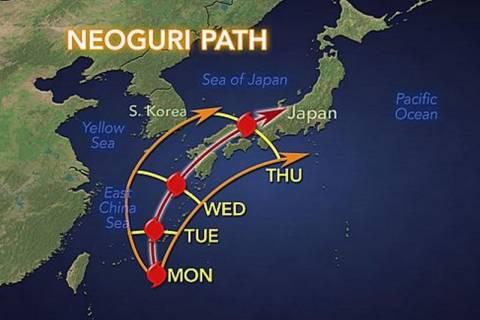 Ιαπωνία: Συναγερμός ενόψει καταστροφικού τυφώνα