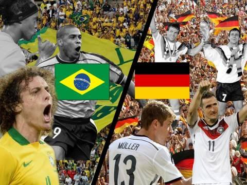 Παγκόσμιο Κύπελλο Ποδοσφαίρου 2014 - Ημιτελικά: «Σέντρα» με Βραζιλία – Γερμανία