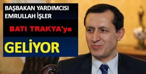 Ο αναπληρωτής πρωθυπουργός της Τουρκίας στην Δυτική Θράκη