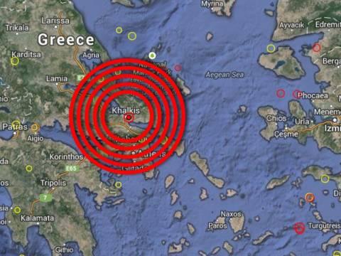 Ισχυρός σεισμός στην Εύβοια