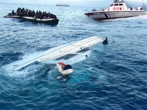 Τραγικό ναυάγιο με δύο νεκρούς μετανάστες στο Καρλόβασι Σάμου