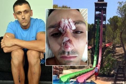 Τουρίστας κόντεψε να σκοτωθεί σε νεροτσουλήθρα! (σκληρές εικόνες+βίντεο)