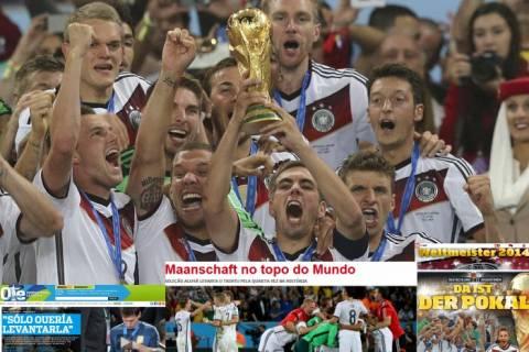Τελικός Μουντιάλ 2104: Οι αναφορές των ξένων ΜΜΕ για τον θρίαμβο της Γερμανίας (pics)