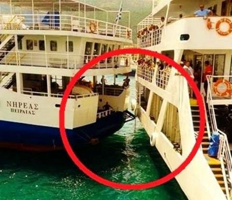 Σύγκρουση πλοίων στο λιμάνι της Ηγουμενίτσας