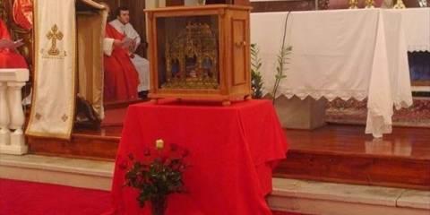 Στην Μυτιλήνη τα λείψανα του Αγίου Βαλεντίνου