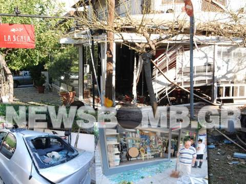 Νέα ισχυρή έκρηξη στο εστιατόριο της αδελφής του Ι. Σμπώκου