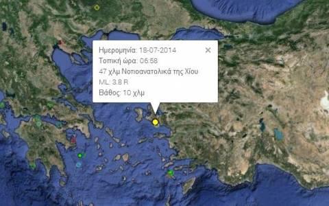Σεισμός νοτιοανατολικά της Χίου
