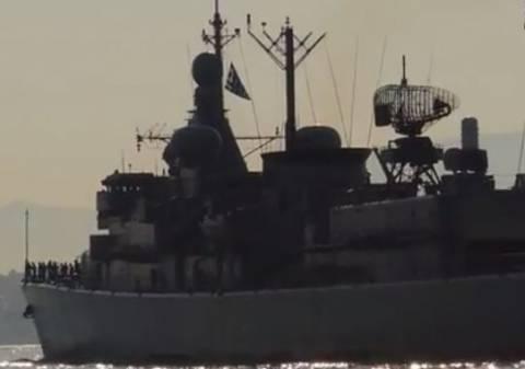 Στο λιμάνι του Πειραιά ο Φ/Γ Νικηφόρος Φωκάς και Α/Τ Λέσβος (vids)