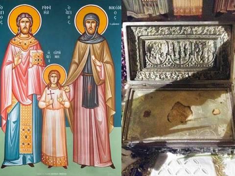 Ημαθία: Τα λείψανα των Αγ. Ραφαήλ, Νικολάου και Ειρήνης στην Πατρίδα