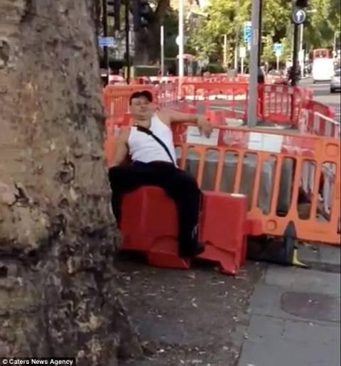 Ο μεθυσμένος είδε την... πινακίδα και φοβήθηκε! (pics+video)