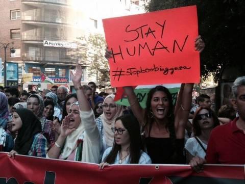 Η Βαλένθια διαδήλωσε κατά της σφαγής στην Παλαιστίνη