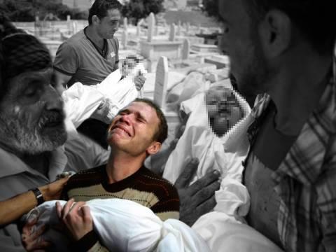 Πνίγεται στο αίμα η Γάζα από τον ανήθικο πόλεμο με θύματα παιδιά (pics+videos)
